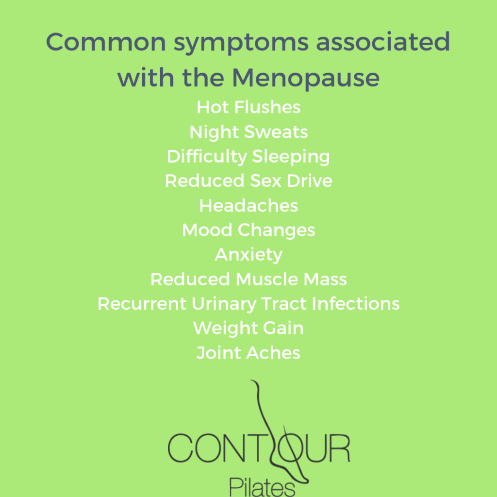 Common symptoms of the Menopause.
